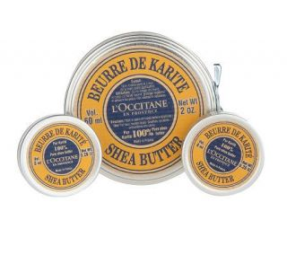 LOccitane Shea Butter Set of 3 Home and Away Tins —