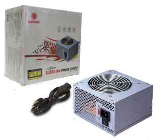 COOLMAX V 500 SILENT FAN POWER SUPPLY w/120mm Fan