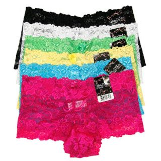Lot Womens Floral Lace Panties Hipster Sheer Boyshorts Underwear L