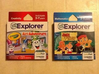 Brand New Leapster Explorer Games Crayola Art Jake Neverland Pirates