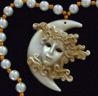 Crescent Moon Goddess New Orleans Mardi Gras Beads Bead
