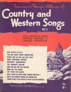 Country Western Songs Sheet Music Guitar Chords Piano