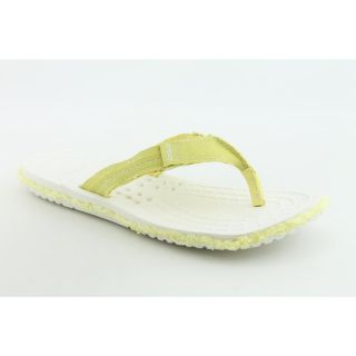 Crocs Melborne Flip Womens Size 9 Yellow Flip Flops Sandals Shoes