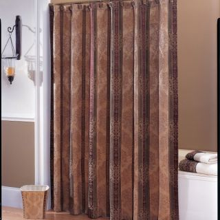 Croscill Home Heavy Fabric Shower Curtain 72 x 75 Townhouse Brown