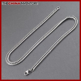 7mm Mens 24 Stainless Steel Curb Chain Necklace N5004