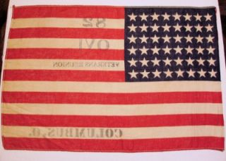 Civil War 82nd Ohio Volunteer Infantry Gar Veteran Reunion Flag