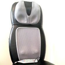 SBM 500H Shiatsu Back Shoulder Massage Chair Cushion Massager w Heat