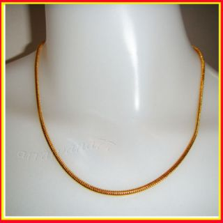 22K Thai Yellow GP Gold 18 inch Necklace Jewelry N4