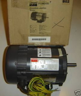 Dayton 1 2 HP 3 Ph Electric Pump Motor Explosion Proof