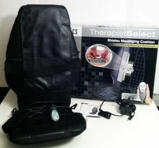 Therapist Select SHIATSU MASSAGING CUSHION Back Massager Kneading