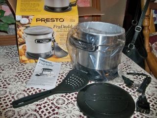 Presto Fry Daddy Elite Electric Deep Fryer BRUSHED STAINLESS STEEL NIB