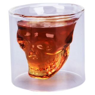 New Crystal Clear Skull Head Shot Glass Glasses for Bar & Barware by