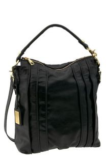 Badgley Mischka Pintucked Top Zip Crossbody Hobo