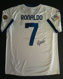CRISTIANO RONALDO REAL MADRID SIGNED AUTOGRAPHED JERSEY WITH COA