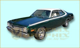 1973 1974 Dodge Dart Sport Sides & Over Roof Decal & Stripe Kit*