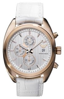 Emporio Armani Large Rose Gold Chronograph Watch