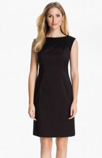Adrianna Papell Embroidered Brocade Sheath Dress