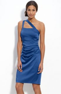 Suzi Chin for Maggy Boutique One Shoulder Stretch Satin Dress