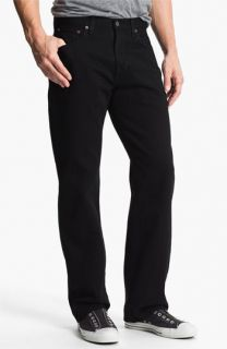Lucky Brand 184 Relaxed Straight Leg Jeans (Jet Black)