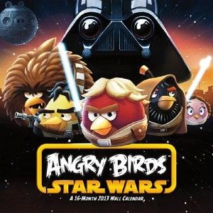 ANGRY BIRDS STAR WARS 2013 WALL CALENDAR STANDARD 16 MONTH JEDI BIRDS