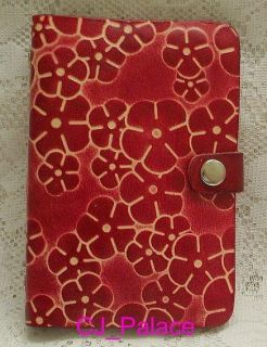 Leather Diary Daily Planner Organizer Agenda Red Daisy