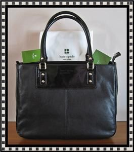 KATE SPADE BOERUM HILL RUE BLACK PATENT/LEATHER TOTE BAG NWT