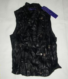 Miley Cyrus Max Azria Motorcycle Vest Girls Black Small