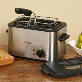 Liter Stainless Deep Fryer with Basket by E Ware