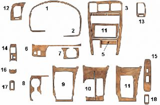 Toyota 4 Runner 4Runner SR5 Limited Interior Wood Dash Trim Kit 1996