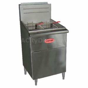 F5 N Commercial 70lb Natural Gas Deep Fryer w Two Fry Baskets