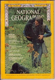 National Geographic January 1970 Friends with Gorillas
