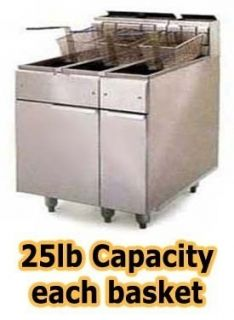Deep Fryer Propane 140 000 BTU Stainless Steel Fry Pot Dual Deep Fat