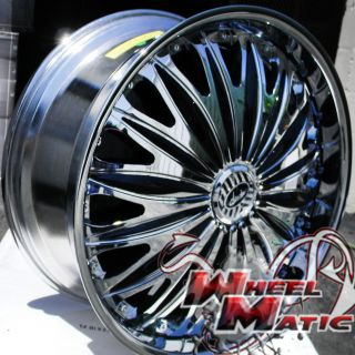 New Davin Dub Emotion Spinners 28 6x139 7 Chrome Rims Wheels Titan