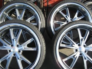 22 American Racing VN801 Daytona Wheels Gray Rims Tires Ford Mustang