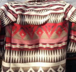 Superb Native American Hand Woven Wool Jacket Size M VI VI Santa FE