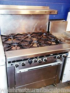 Starfire Sentry 6 Burner Commercial Range with Electric Pilot Ignition