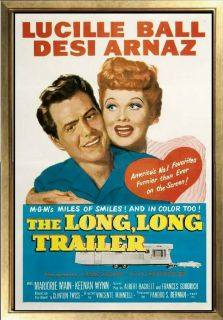 Poster The Long Long Trailer Lucille Ball Desi Arnaz Funny