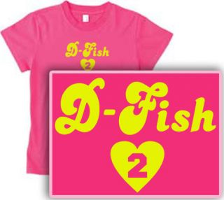 Derek Heart Fisher Womens Hot Pink Lakers D Fish Shirt