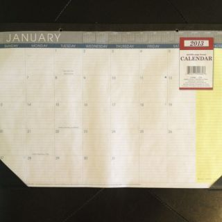 2013 Large Desk Pad Scheduling Calendar ,desk blotter,monthly,planner