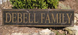 Debell Family Name Sign Personalized Lastname Hand Crafted Wooden Sign