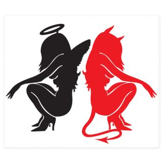 Angel and Devil Hot Girls Car Styling Car Bumper Sticker Decal 6 x 5