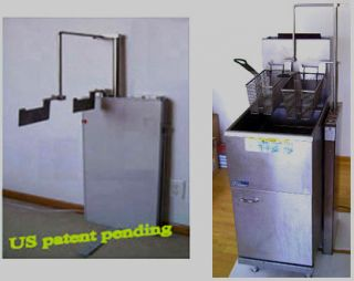 deep fryer automatic basket lift for restaurant timer kitchen