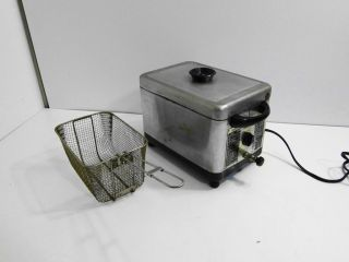 Vintage Swifty Electric Deep Fryer Fry Cooker Works