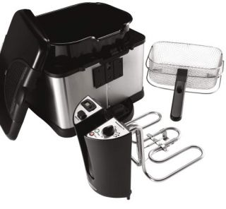 Liter Cool Touch Deep Fryer, Black and Stainless Steel New
