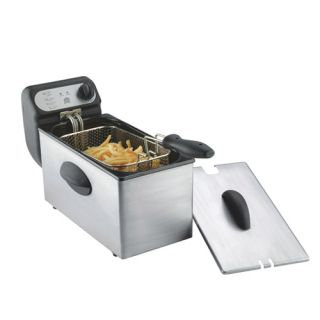 Rongsheng 3.0L 1500W Electric Deep Fryer Enamel Pot/ S.S. Housing