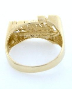 14k yellow gold diamond cut karen name plate ring 27985