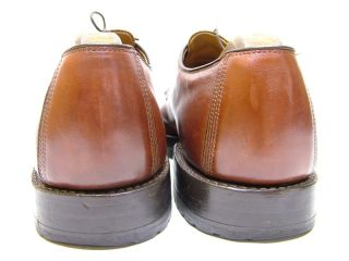 MENS ALLEN EDMONDS DELLWOOD BROWN MOCC TOE OXFORD DRESS SHOES SI