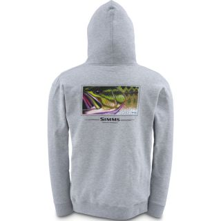 Simms Fly Fishing DeYoung Largemouth Bass Pullover Hoody Ash Gray