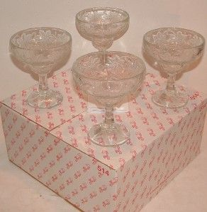 PC Princess House Margarita Desert Crystal Glasses Fantasia Made USA