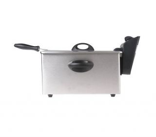 deni 6 25 qt dual basket stainless steel deep fryer